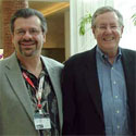 Rick Schwartz with Steve Forbes, 2007